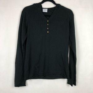 Columbia Knit Hooded Sweater Black Size Medium
